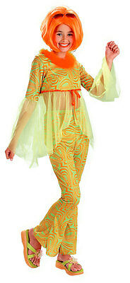 Love Child Green 60's Hippie Pop Star Neon Dress Up Halloween Child Costume - 60s Dress Up