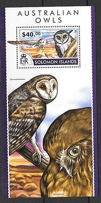 SOLOMON ISLANDS 2015 AUSTRALIAN OWLS (2) MNH