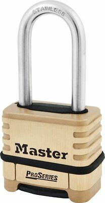 Master Lock 1175lhss Resettable Pro Combination Padlock W 2-116-inch Shackle