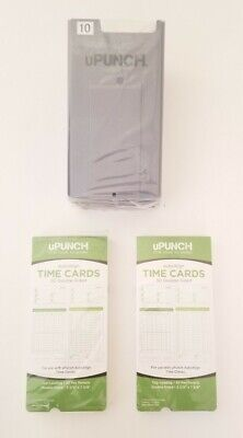 100 Upunch Time Cards Card Rack