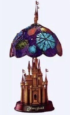 - DISNEY Disneyland 50th Anniversary Sleeping Beauty Castle Stained Glass Lamp