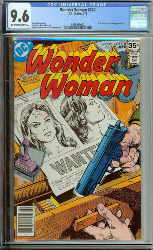 WONDER WOMAN #240 CGC 9.6 OW/WH PAGES