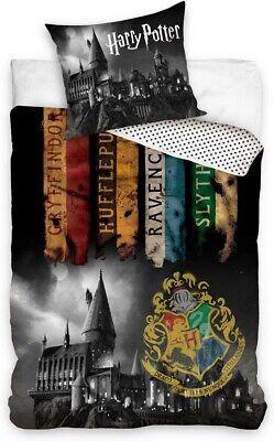 Harry Potter Set Bett Wimpel Hogwarts Bettbezug 140x200cm Kissenbezug 70x90cm