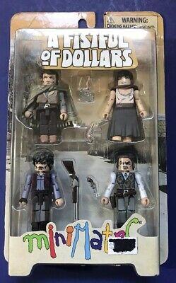 Spaghetti Western Minimates Fistful of Dollars Box Set Clint Eastwood