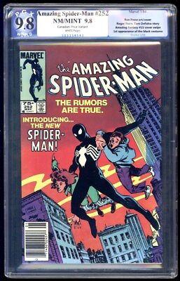 Amazing Spider-Man #252 9.8 Canadian Price Variant .75 1st Black Costume Not CGC