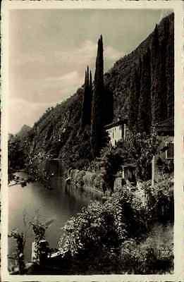Lago di Lugano Luganer See Tessin Schweiz frankierte AK 1935 Oria Villa Brusati