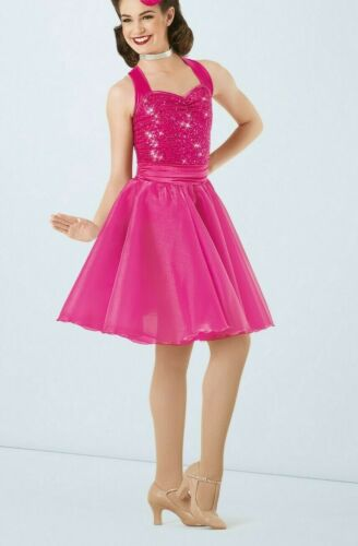 WEISSMAN Girls Pink Feel Pretty Dance Costume Size XLC Style# 9471