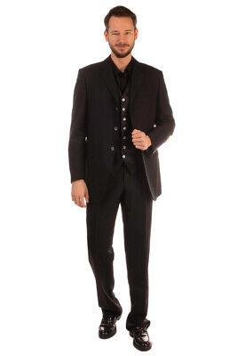 RRP €1415 PAL ZILERI CERIMONIA Silk Wool Suit & Waistcoat Size 54 / XXL Striped