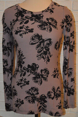 Womens Rue 21 Light Purple Rose Long Sleeve Stretch Top Sizes Xs  S  M