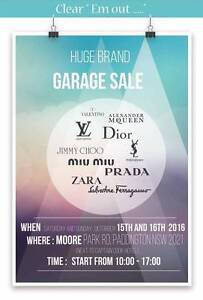 Pre-Loved Fashion Items Garage Sale for Ladies event Paddington Eastern Suburbs Preview