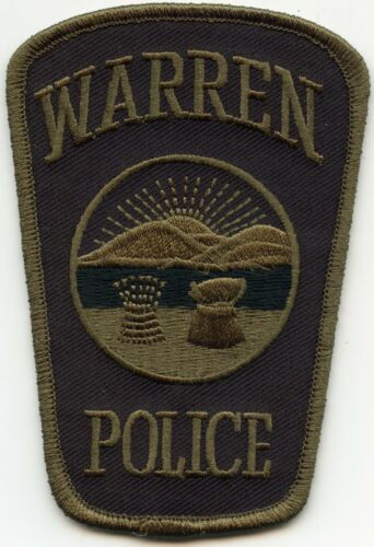 WARREN OHIO OH Subdued Green POLICE PATCH