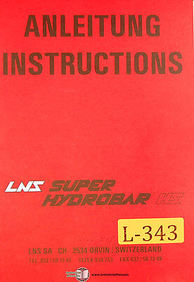 Lns Hs Automatic Bar Loading System Operations Electrical Maint Manual 1986