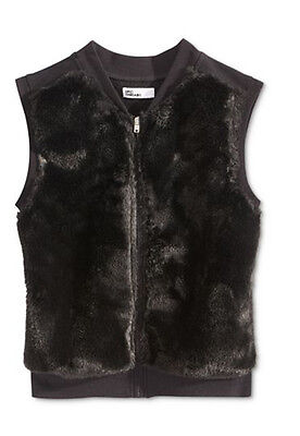 Epic Threads Faux Fur Vest Girls 7 - 16 NWT Black color](Girls Fur Vest)