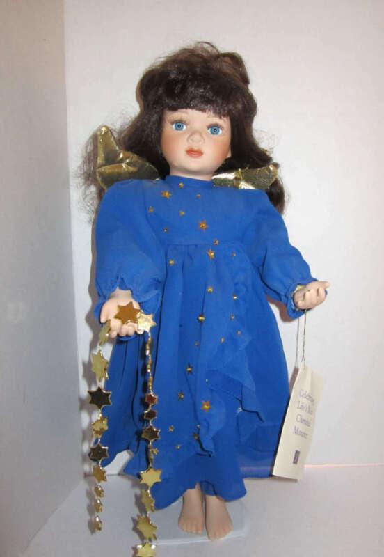 Christmas around the world Amelia Porcelain Angel Doll W/ Stand house of lloyd 1