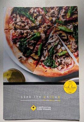 California Pizza Kitchen Restaurant Menu, Laminated. CPK