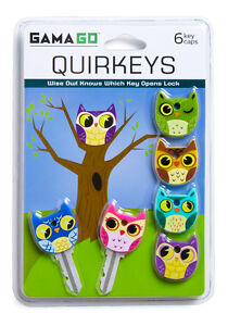 Gama-Go-Quirkeys-Silicone-Owl-Bird-Key-Caps-Covers-Toppers-6pk