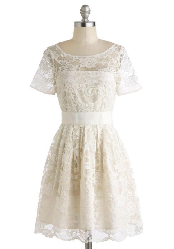 Vintage short wedding dress ebay for Ebay vintage wedding dress