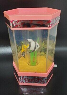 Vintage 1992 Barbie Wind-up FISH TANK AQUARIUM Mattel Doll House Furniture Works
