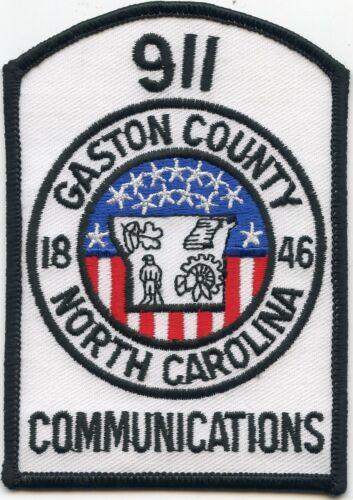GASTON COUNTY NORTH CAROLINA NC COMMUNICATIONS 9-1-1 DISPATCHER POLICE PATCH