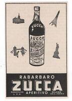 Pubblicità 1957 Rabarbaro Zucca Milano Italy Advert Reklame Werbung Publicitè -  - ebay.it