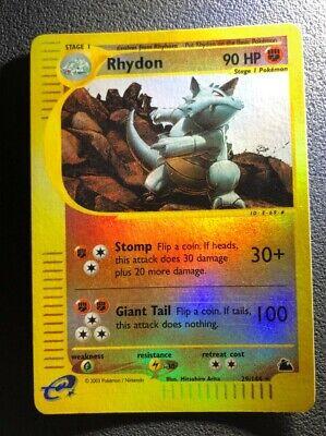 Pokemon Skyridge Reverse Foil Rhydon #29 Near mint