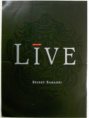 LIVE Secret Samadhi 1997 promo new release solicitation BROCHURE