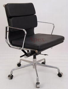 Apex Charles Eames era High Back Low Back Soft Pad Ribbed Office Computer Chair