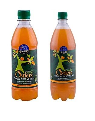 Ostlers Cloudy Apple Cider Vinegar With Mother, Choose From 2 Sizes: 500 /1000ml
