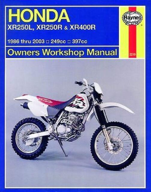 Reparaturhandbuch Honda XR250L,XR250R & XR400R 86 - 03