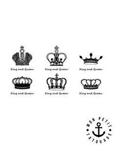 tatouage king queen poignet. Black Bedroom Furniture Sets. Home Design Ideas