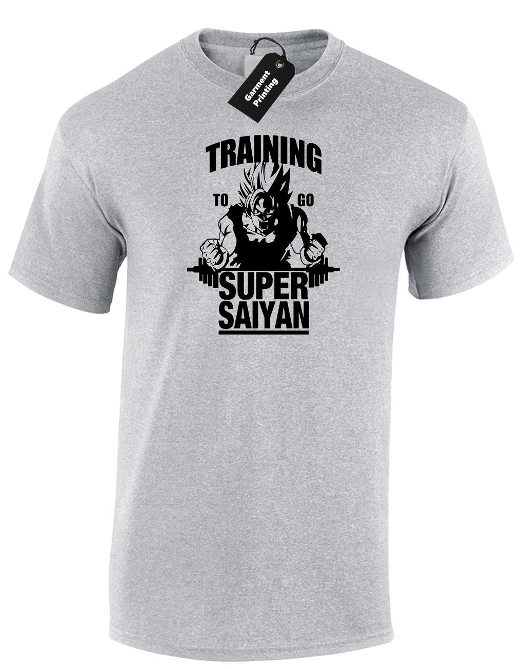 TRAINING SUPER SAIYAN MENS T-SHIRT CLASSIC DRAGONBALL ANIME CARTOON Z TOP