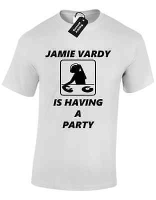 JAMIE VARDY PARTY MENS T SHIRT TEE FOOTBALL LEICESTER CITY FUNNY LEAGUE WINNERS - Party City League City