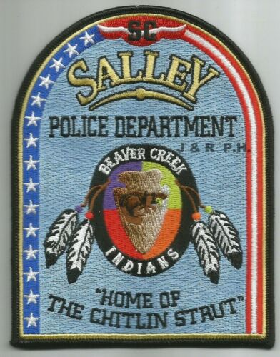 "Salley  ""Home of Chitlin Strut"", SC (4.25"" x 4.5"") shoulder police patch (fire)"