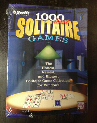 1000 Best Solitaire Games (PC, 2000) - USA Version - May not support W7 or (Best Solitaire Games For Pc)