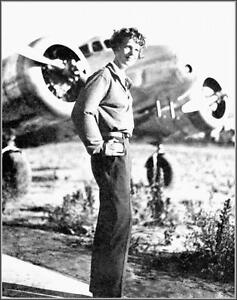 Photo: Amelia Earhart By Her Lockheed Electra 10E, Burbank, California, 1936