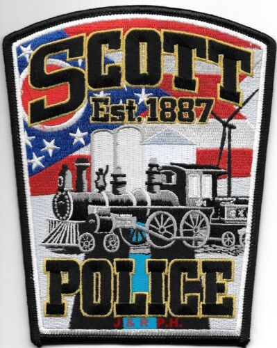 "Scott - 1887, Ohio  (4.5"" x 5.5"" size) shoulder police patch (fire)"
