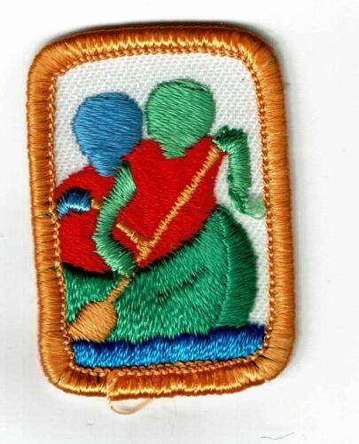 Retired Girl Scout Interest Project badge - Paddle Pole and Roll