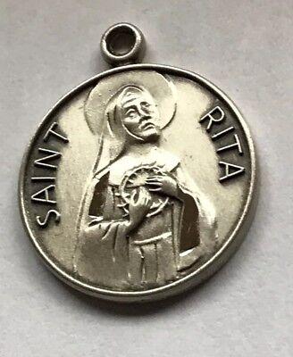 Bliss St Rita of Cascia Patron Saint Sterling Silver Pendant For