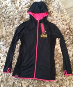 Womens Henleys Thea Zip Through Hoody Track Top Navy Size 8 Lightweight