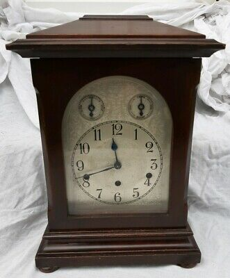 German 8 Day Westminster Chimes Bracket Clock Good Working Order