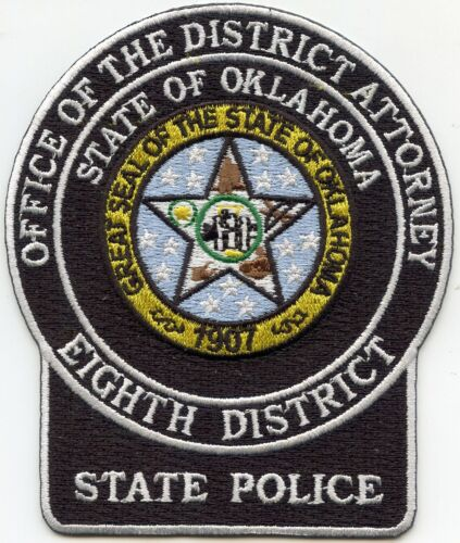 OKLAHOMA OK STATE POLICE DISTRICT ATTORNEY EIGHTH DISTRICT POLICE PATCH