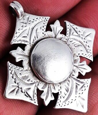BEAUTIFUL ANTIQUE SOLID SILVER SOLID SILVER ALBERT CHAIN FOB MEDAL 1910