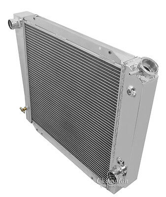 4 Row All Aluminum Performance Radiator For 1966   77 Ford Bronco w Chevy Conv
