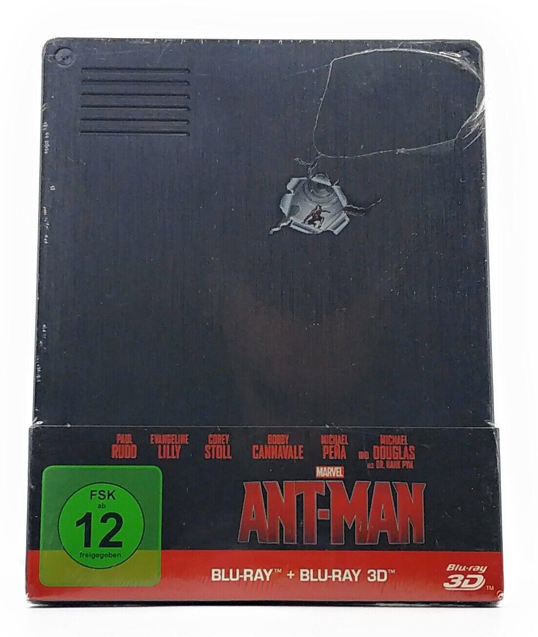 Marvel Ant-Man 3D Blu-ray NEU & OVP Film Steelbook Komplett auf Deutsch FSK 12