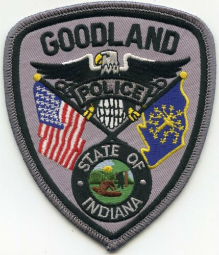 GOODLAND INDIANA IN POLICE PATCH