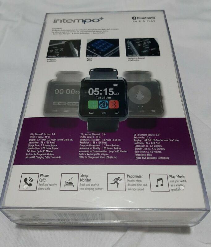 Intempo+Bluetooth+Sync%2FTrack+%26+Talk+Black+Digital+Smart+Watch+for+Smart+Phones