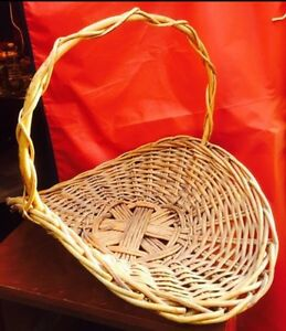 Large Rustic Wicker  Basket looks great decorated for Christmas