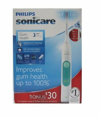 Philips Sonicare 3 Series Gum Health Sonic Electric Toothbrush HX6632/21 - New