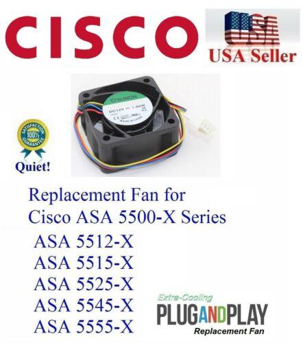 1x QUIET Replacement Fan for Cisco ASA Series 5512-X 5515-X 5525-X 5545-X 5555-X