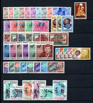 Belgisch Congo Belge - Rep. Congo Kinshasa Collection MNH sets (4) c21.10Eu.